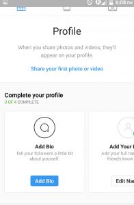 creating instagram account