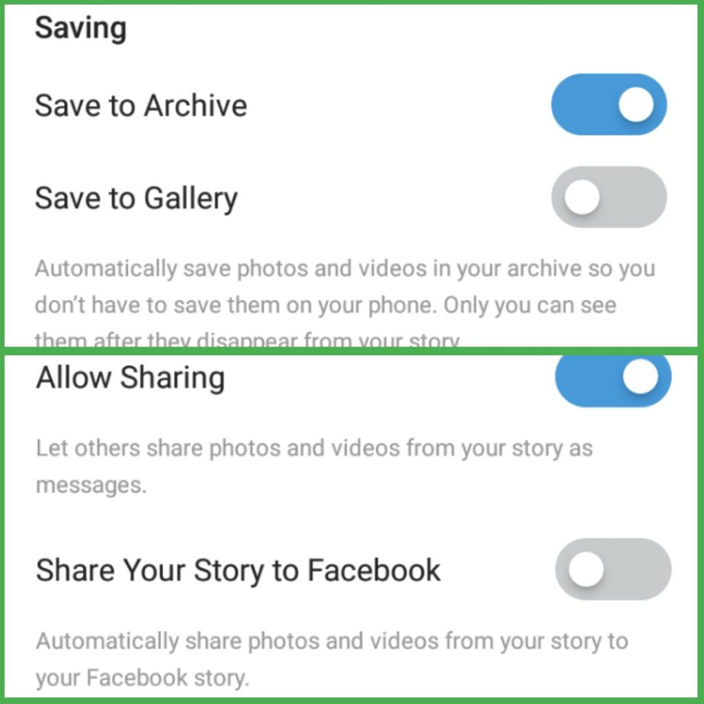 Instagram Story Controls