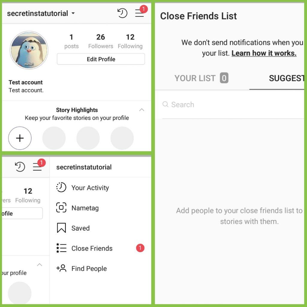 Close Friend List