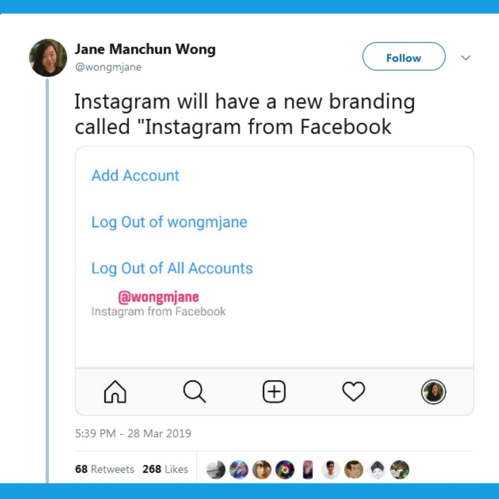 Fb adds its name to Instagram