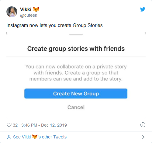 Instagram Group Story Feature