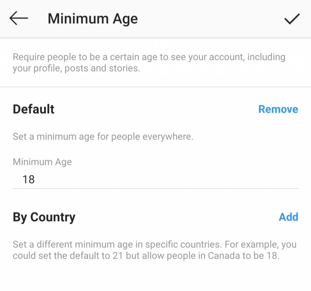 Age-Restriction feature for Creators and Businesses