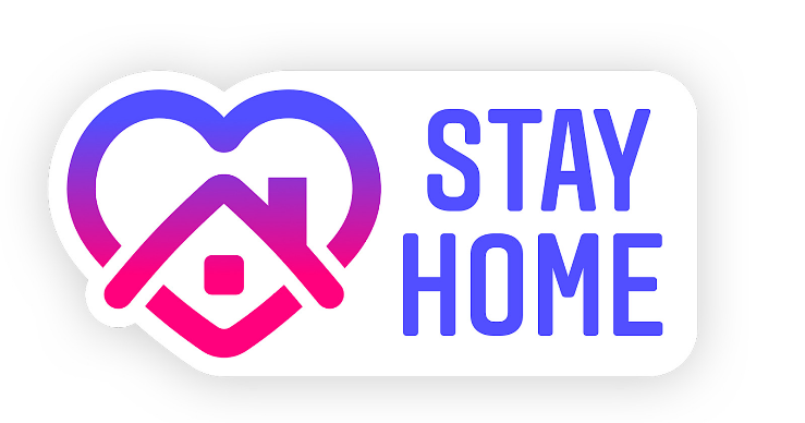 stay home sticker